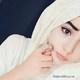 Pretty girl in white hijabm