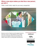 10% instant discount at Shoppers Stop & Homestop stores using your HSBC Credit Card