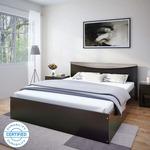 Flipkart Perfect Homes Carol Queen Bed  (Finish Color - Wenge)