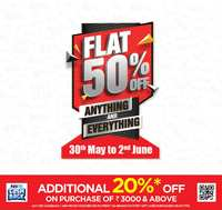 ab656f62497 Brand Factory Sale 30th May - 2nd June - Flat 50% off on Anything