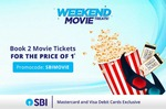 Paytm :- Get 50% Instant Discount upto 300₹ on 2 Movie Tickets Booking using SBI MasterCard / Visa Debit Card ( Valid Only on Sat & Sun )