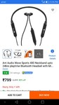 Ant Audio Wave Sports 480 Neckband upto 24hrs playtime Bluetooth Headset with Mic