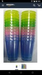 NT-STAR Plastic Drinking Glass (or) Juice Tumbler Assorted Colours 300 ml (Set of 24)