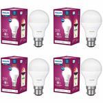 Lightning deal  - Philips Base B22 9-Watt LED Bulb (Pack of 4, White)