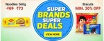 Flipkart Groceries at Great Discounts, Rs.1 Deals & Flat Rs.100 off on Rs.101 + 10%  Instant off via ICICI Cards