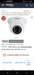 D-Link 2MP HD Day and Night Fixed Dome Camera with 20M of IR Range (White)