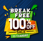 Zoomcar Breakfree sale - Flat 50% off + 50% cashback (11-13 Aug)