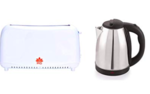 84% off Combo of Bread Two Slice Toasters and Fast Boiling Tea Kettle Cordless.@ 999reg price is Rs 1685
