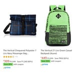 The Vertical Backpack 80% off + 30% Coupon