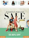 Myntra Fashion Parade Sale 14th -15th Aug. - Up to 80% discount On Fashion
