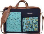 FUNK FOR HIRE  15.6 inch Laptop Messenger Bag  (Tan, Green, Blue) 25% Off