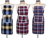 GLUN Waterproof Cotton Kitchen Apron with Front Pocket (Multicolour) Set of 3