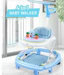 GoodLuck Baybee Round Baby Walker for Kids | Music Function with Canopy 3 Position Height Adjustable kis Walker,Activity Walker for Babies/Childs (6 Months to 2 Years) (Blue)