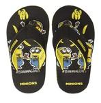 Minions Boy's Black Flip-Flops-6 Kids UK/India (23 EU) (STY-18-19-001668)