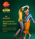 Get free 100 Myntra Insider points + Play games and Earn upto 500