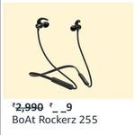 boAt Rockerz 255 Sports Bluetooth Wireless Earphone @Rs.899/-