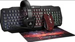 Xtrike Me cm 400 Gaming Combo 3200 DPI Optical Wired Mouse, Backlit Keyboard, Stereo Headset with mic, and Mousepad
