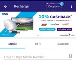 Bhim SBI Pay 10% CB upto 50 on first recharge/dth/postpaid bill