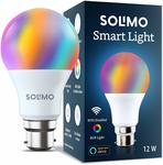 Smart LED Light, 12W, B22 Holder, Alexa Enabled + Extra 10% instant discount with SBI Cards*.