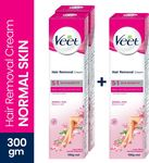 buy 4 get extra off  Veet Silk and Fresh Normal Skin Hair Removal Cream 100g Pack of 3 Cream  (300 g, Set of 3)