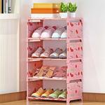 5 Layer Shoe Rack Non-Woven Fabric Shoe Organizer Storage Shelf Shoe Cabinet
