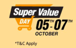 Super value day 5-7 oct (15% cashback with ICICI bank/Extra 5% Amazon Pay)