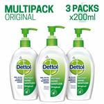 [pantry]Dettol Germ Protection Instant Hand Sanitizer - 200 ml (Original, Pack of 3) + 15%coupon