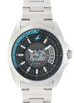 Fastrack Loopholes Silver Stainless Steel Strap Watch
