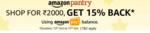 Amazon Pantry : Shop for Rs.2000 Get 15% Back via Amazon Pay Balance