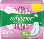 Whisper ultra XL (50 pad, 2 No's) + Nivea Fash wash (2 No's) @ 544 only (MRP 1100)