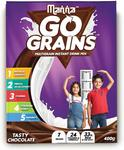 Manna Go Grains - Multigrain Instant Drink Mix - 400g Pack (Chocolate Flavour)-99/-. MRP 268/- 63% Off.