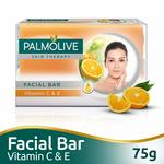 Palmolive Skin Therapy Facial Bar Soap with Vitamin C and E - 75g || pantry