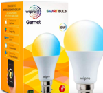 Wipro Garnet 9W Smart Bulb (Yellow/Light Yellow/White - Compatible with Alexa and Google Assistant)