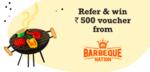 Get assured BBQ nation 500rs voucher
