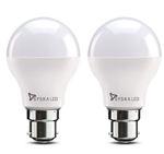 Syska SSK-SRL-9W-2 Base B22 9-Watt LED Bulb (Pack of 2, Cool Day Light) (Cool Day Light)