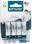 Envie AA 1000 x 4 Ni-CD Rechargeable Battery