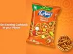 Free Cash Offer - Get Rs.20 Paytm Cashback on Rs.20 Pack of Kurkure