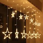 56% Off On  Satyam Kraft Star Light Curtain Decoration (Yellow)