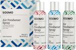 Solimo Premium Air Freshener Spray, 180ml (Set of 3)