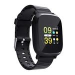 65% Off On Bakeey M30 1.3' Sleep HR Blood Oxygen Pressure Monitor IP67 Waterproof Message Alarm Smart Watch - Black