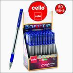 Cello Soft-Tip Ballpen - Pack of 50 (Assorted)