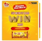 Play game and win m-coupon of 50% off on chai biscuits at big bazaar