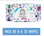 Amazon Brand - Mama Bear Cleansing Baby Wet Wipes - 72 Wipes/Pack (Pack of 8, Super Saver) (lowest 0.75 per wipes)