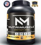 NutriMuscle Premium Whey Protein -5lbs, 76 Serving (Milk Choco-latte)