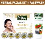 Roop Mantra Combo Kit (Herbal Facial Kit 75gm + Mix Fruit Face wash 115ml)  (2 Items in the set)