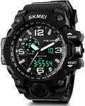 SKMEI Smael Analogue Digital Dual Quartz Movement Military Design Water Resistant Sports Men's Watch