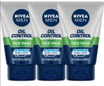 Nivea Men Oil control Face wash- Pack of 3 Face Wash- Free Shipping
