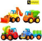 MeeMee Unbreakable Automobile Car Toy Set For Children Kids Toys Construction Team Set Of 4  (Multicolor)