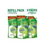 Dettol Original Handwash (Refill) - Pack of 3 (3×750 ml)