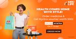 Flat 25% OFF on prescribed medicines* + Rs.500 Myntra Voucher